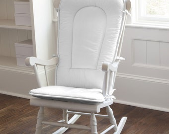 Solid White Rocking Chair Pad by Carousel Designs