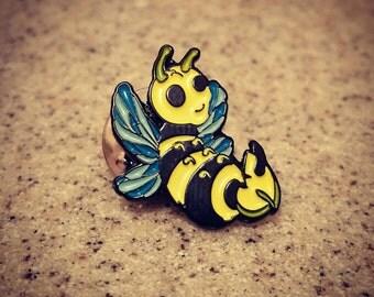 Wutang clan bumble bee lapel pin Heady gear honeycomb enamel hat pins