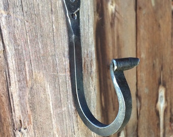 Wrought iron hook, mudroom or towel hook