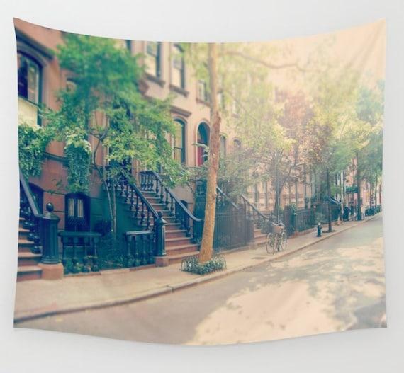 New York City Wall Tapestry West Village Wall Art Street