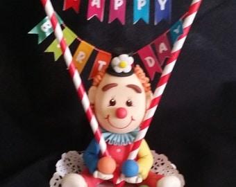 Circus Birthday Cake Topper, Circus Birthday Decoration, Carnival Party Decoration, Circus Party, Circus Baby Shower, Circus Cake Decoration