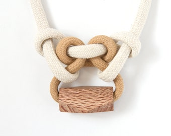 Knotted Rope + Rewarewa Necklace