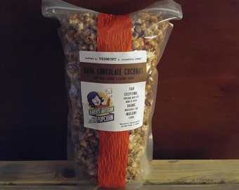 Dark Chocolate Coconut - Gourmet Vermont Popcorn - Organic Coconut, Coconut Sugar & Cocoa Powder