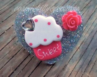 Heart cupcake ring