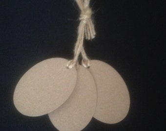 20 Handmade Shabby Chic Style Oval Gift Tags/Wedding Favour/Price Tags