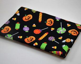 HALLOWEEN CANDY PILLOWCASE Toss Kids Pillowcase Pumpkins Pillowcase Halloween Trick or Treat Bag Halloween Bedding Holiday Bedding