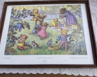 Pair of Molly Brett bear prints