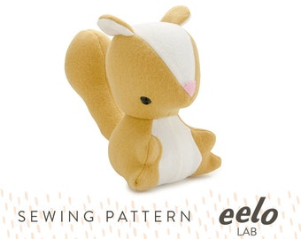 Sewing Pattern PDF for Stuffed Animal -- Savannah the Squirrel