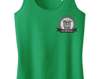 Beer Of The Year Polo Racerback Tank Top