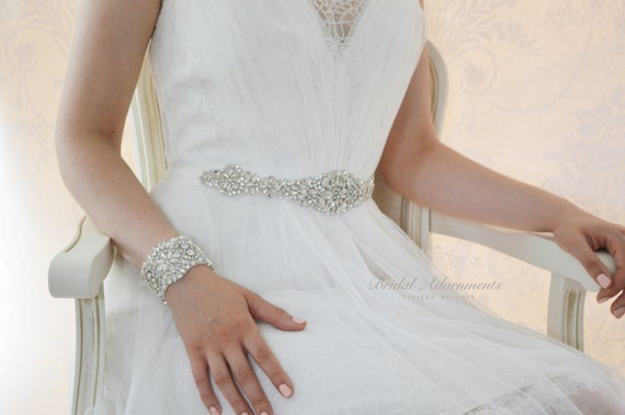 Althea Wedding Dess Bridal Belt Crystal Sash