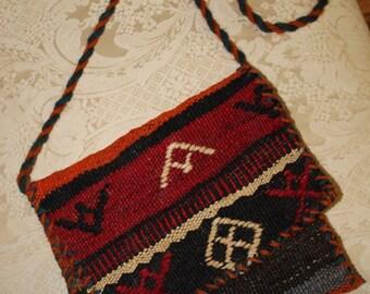 Boho Bag Hippie Bag Festival Bag. Hand Woven Kilim Bag /Purse. Turkish/Moroccan Bag Handmade Wool Bohemian Style