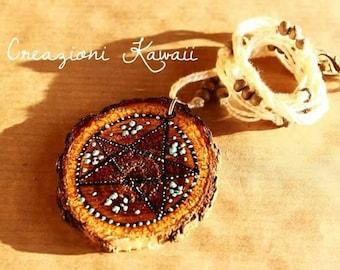 Pentacle Wooden Necklace Handmade