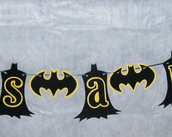 "Batman ""It's a Boy"" / Super Hero Banner / Batman Baby Shower (595B)"
