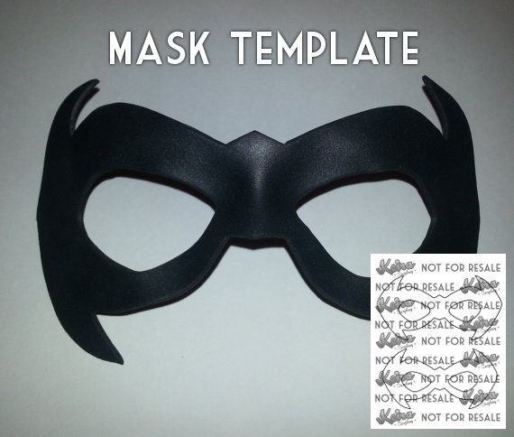 night mask template from keiracosplay on etsy studio. Black Bedroom Furniture Sets. Home Design Ideas