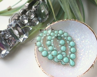 OPAL Handmade Polymer Clay Jewelry Dish, Ring Dish, Trinket Dish