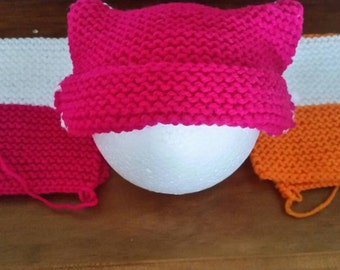 baby kimono booties and cat beanies.