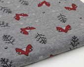 Brushed French Terry Knit Fabric Fox Light Charcoal By The Yard
