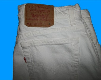 Levis 551 Relaxed Fit  14 M  White   Made in USA