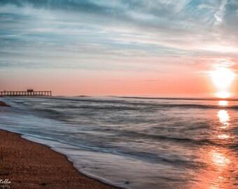 Sunrise, Jersey Shore, Belmar, NJ, 8x10 Inch Print