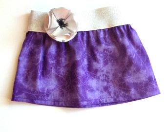 Purple spider web skirt, halloween clothing, baby halloween skirt, toddler halloween skirt, girls halloween skirt, children's halloween