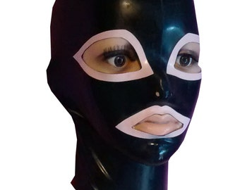 Pull-on Hood with trim  |  Latex Rubber Gummi |  S M L | Range of colours