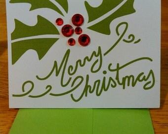 Handmade Christmas gift cards (set of 2)