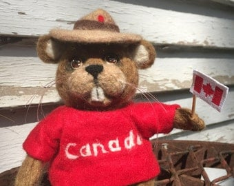 Canadian Beaver - Felted Toy