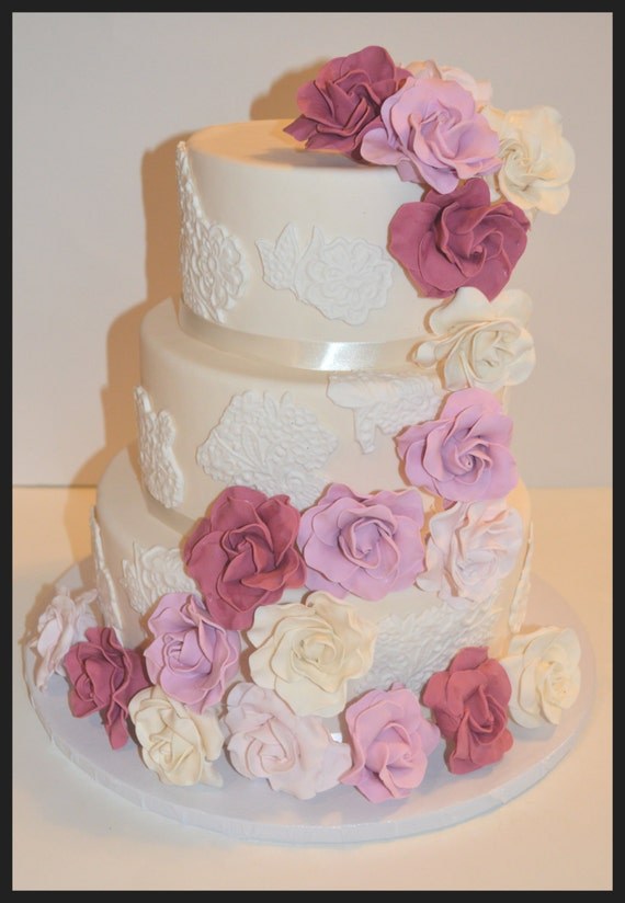 how to make fake wedding cake tiers items similar to three tier fondant faux wedding cake 15931