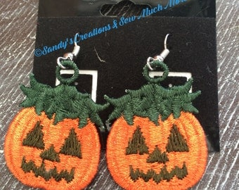 Halloween JackOLantern Earrings