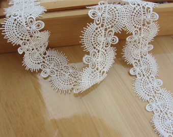 4.5cm white lace trim for DIY sewing,good wedding lace ribbon