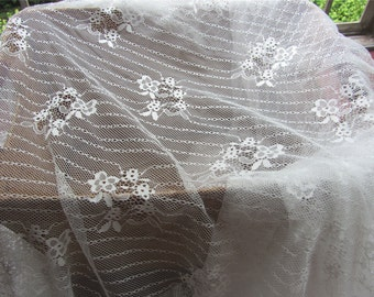 Chantilly lace fabric sold by yard,wedding Lace trim, 150cm Eyelash lace for lace dress-LSM3L005