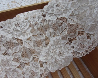 """Wedding lace Trimming,Stretch Lace Trim - Extra Wide Lace Trim, 6.2"""" Wide Lace Trim-Iwedding ribbon"""