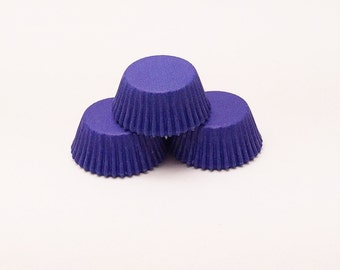 48 Royal Blue Mini Size Cupcake Liners Baking Cups Greaseproof