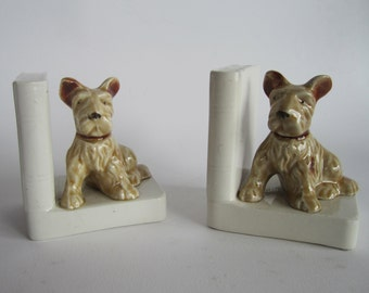 1950s dog book ends