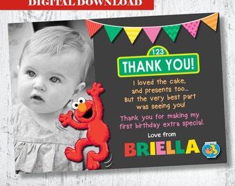 Elmo Photo Thank you. Girls Elmo Printable Thank You. Girls Printable Thank You. Sesame Street Thank You. Elmo and Dorothy Party. Elmo
