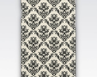 Case for iPhone 8, iPhone 6s,  iPhone 6 Plus,  iPhone 5s,  iPhone SE,  iPhone 5c,  iPhone 7  - Black & Cream Damask Patterned