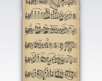 Case for iPhone 8, iPhone 6s,  iPhone 6 Plus,  iPhone 5s,  iPhone SE,  iPhone 5c,  iPhone 7  - Vintage Musical Sheet Music iPhone