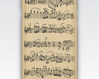 iPhone 6s Case, iPhone 6 Plus Case, iPhone 5s Case, iPhone SE Case, iPhone 5c Case, iPhone 7 case - Vintage Musical Sheet Music iPhone case