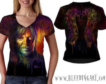 Daryl Dixon Womens V-neck