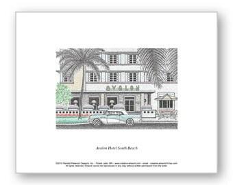 Avalon Hotel South Beach - Limited Edition Print