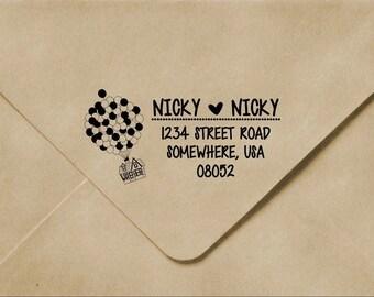 "Personalized Address Stamp:  3""x1.5"" Address Stamp, Up Stamp, Custom Address Stamp,Self-inking Custom Stamp, Custom wood stamp, rubber stamp"