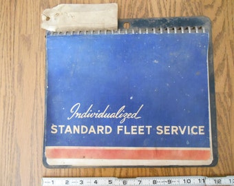 Father's Day OOAK GRUNGY GARAGE Decor, Honest Dirt and Grime: Fleet Service Record Book, 1930's Vintage, Willamette Valley Farm