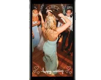Snapchat GeoFilter for Weddings- INSTANT Download