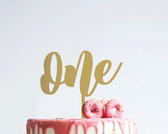 one : birthday cake topper
