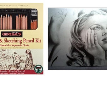 General Pencil Classic Sketching and Drawing Kit For Exploring Your Artistic Side, Sketch Pencils, Perfect Gift For Art Student Or Exploring