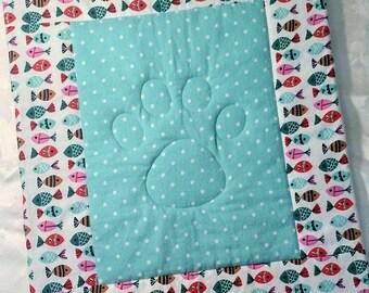 Pet Blanket, Cat Blanket, Crate Pad, Blanket, Carrier Pad, Fish
