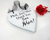 Ring Bearer Pillow Engraved Ring Bearer Sign Rustic Photo Prop Rustic Wood Heart Alternative Ring Bearer Sign Personalized Wedding Sign