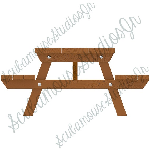 picnic table clipart single camping clip art table summer. Black Bedroom Furniture Sets. Home Design Ideas