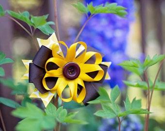 Sunflower Hair Bow