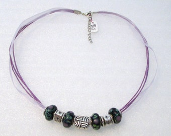 868 - Lavender Beaded Necklace